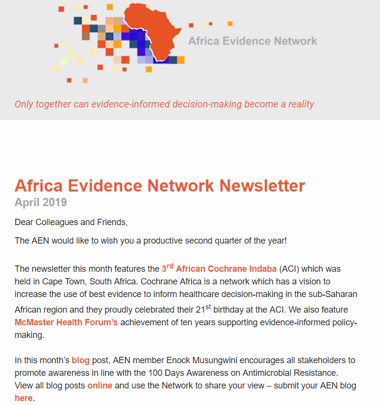 AEN April 2019 newsletter