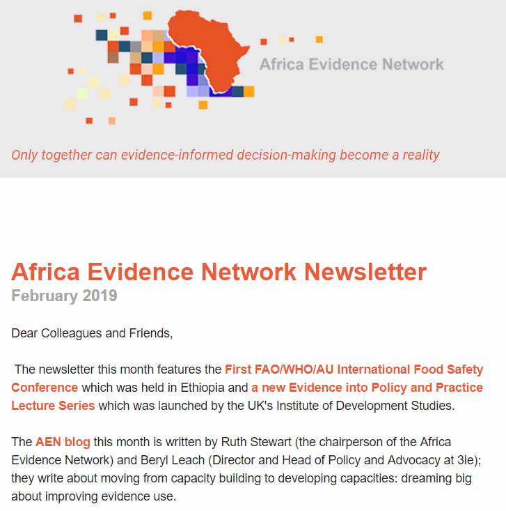 AEN February 2019 newsletter