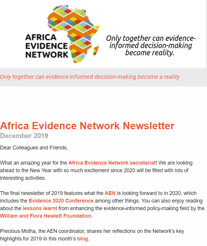 AEN December 2019 newsletter