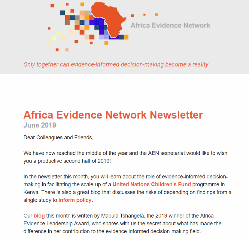 AEN June 2019 newsletter