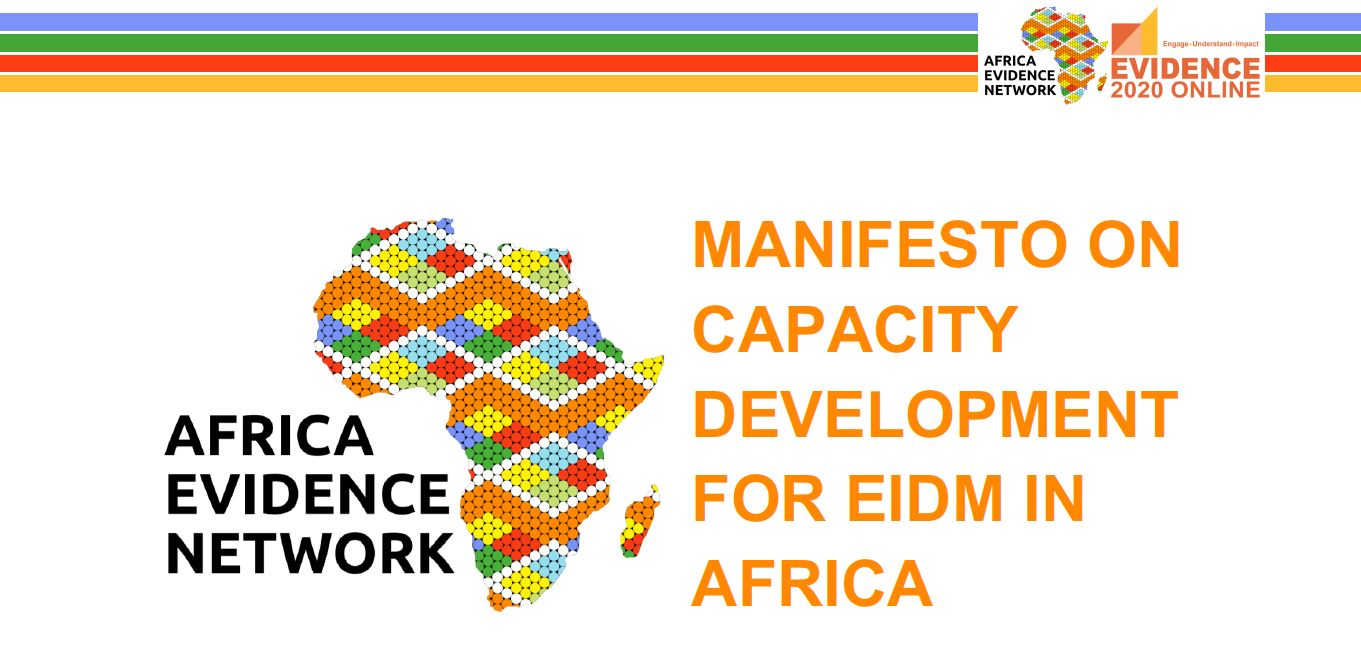 MANIFESTO ON CAPACITY DEVELOPMENT FOR EIDM IN AFRICA