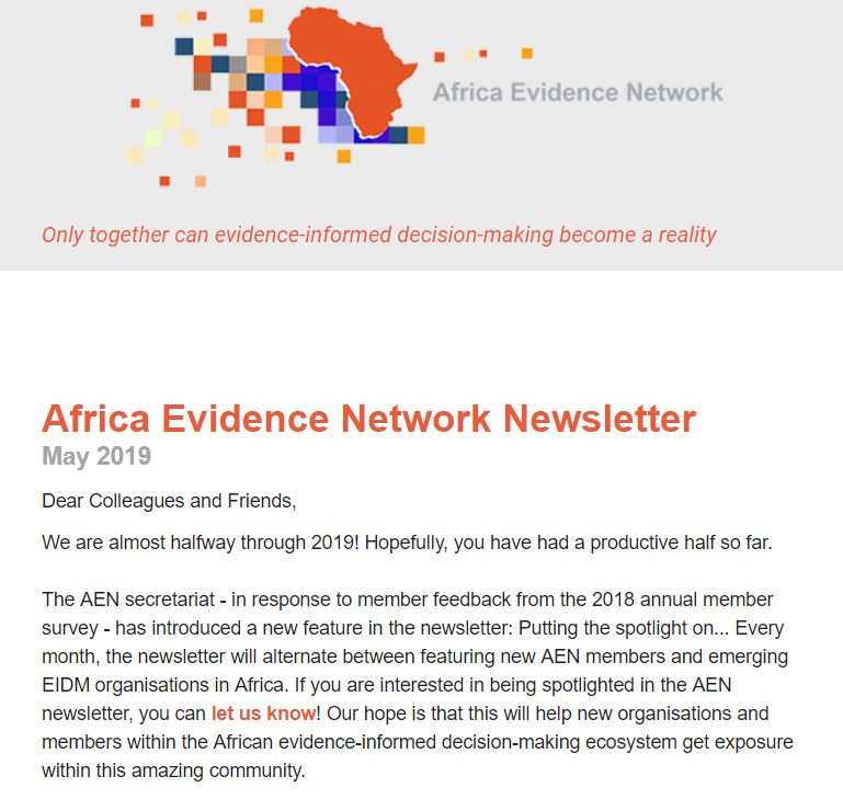 AEN May 2019 newsletter