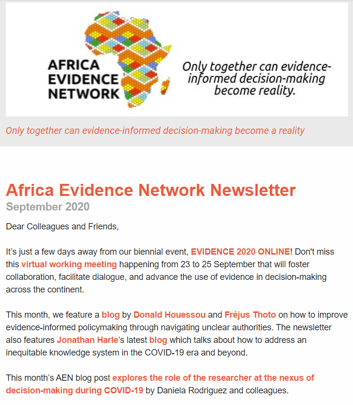 AEN September 2020 newsletter